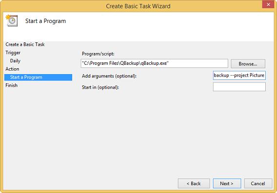 qBackup - User Guide - Scheduling